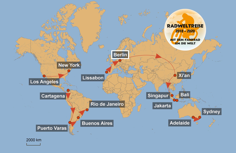 Radweltreise – Cycling around the world – In 800 Tagen um ...